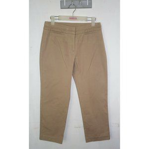 Suzannegrae Women's Ankle Cropped Pants Size 8 Tan Brown
